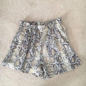 Zara medium snakeskin shorts